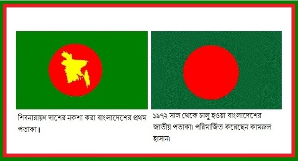 Why is there no map of Bangladesh in the national flag?